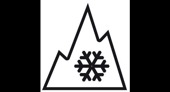 Eisberg mit Schneeflocke